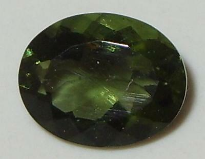 2.07ct Faceted TOP QUALITY Natural Czechoslovakia Moldavite Oval Cut 10x8mm