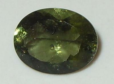 1.39ct Faceted TOP QUALITY Natural Czechoslovakia Moldavite Oval Cut 9.1x7.1mm