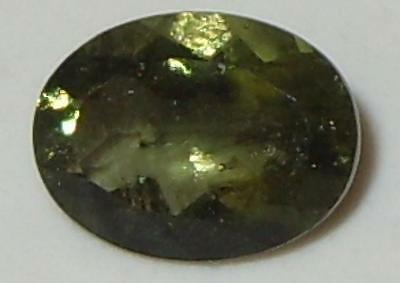.97ct Faceted NICE QUALITY Natural Czechoslovakia Moldavite Oval Cut 8.1x6.1mm