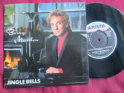 Barry Manilow Jingle Bells 7inch 45  UK vinyl Picture sleeve Christmas song