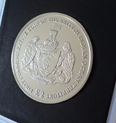 2009 British Indian Ocean Territory Chagos Islands Isles £2 Coin (BU) in Case