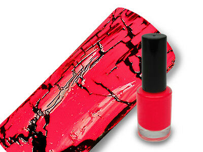 Crackle Lack Crackling Polish Nagellack 5ml in crazy red