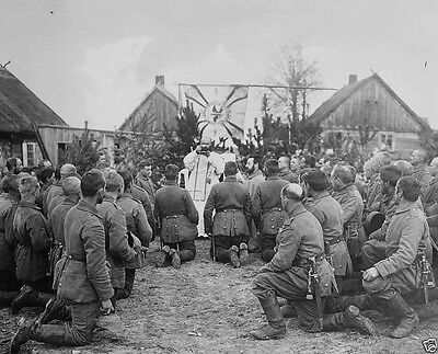 Catholic Mass for German soldiers before a battle 1914 World War I 8x10 Photo