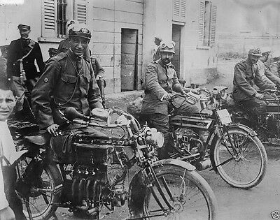 Italian soldiers on motor cycles World War I 8x10 Photo