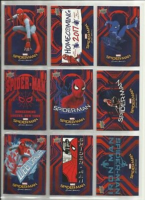 2017 WALMART Spider-Man Homecoming Complete Base Set of 50 Cards (RB-1 to RB-50)