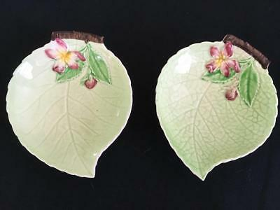 LOT 2 Carlton ware apple blossom condiment dish butter jam green leaf