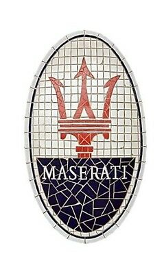 Maserati Car Emblem Wall Decor Automotive Sign Garage Statues