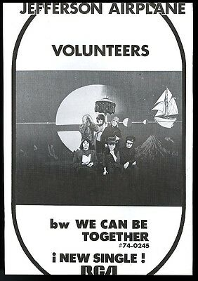 1969 Jefferson Airplane photo We Can Be Together song release trade print ad