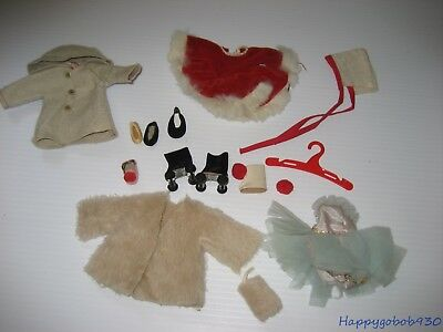 "Vintage Ginger 1950's Doll Clothes Lot 8"" Size Ginny, Muffie, Alexander Kins"