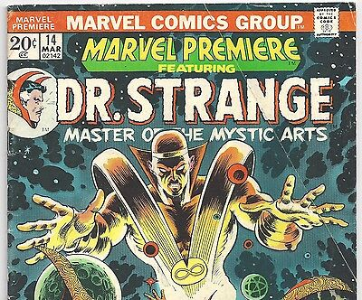 MARVEL PREMIERE #14 featuring Dr. Strange from March 1974 in VG- condition