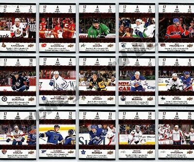 New! 2017-18 Upper Deck Tim Horton's Full Set Game Day Action Inserts Mcdavid+++