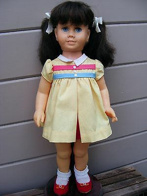 ** 1960's CHATTY CATHY * Brunette Pigtail * School Girl Outfit * Non-Talking **