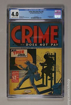 Crime Does Not Pay (1942) #42 CGC 4.0 1355858011