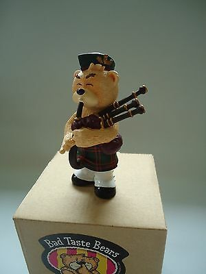 Bad Taste Bears Angus bagpipe bear novelty collectible figure NEW old stock NOS