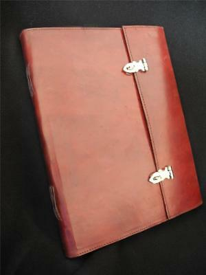 Very Large Lockable Journal in Handmade Leather - suit Wedding Album, Guest Book