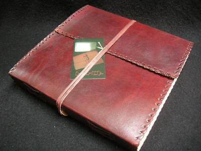 Large Handmade Leather Sketchbook Diary Journal - Pages of Handmade Cotton Paper
