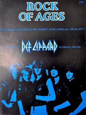 Def Leppard Rock of Ages Vintage Sheet Music 1983 Guitar Piano Vocal Cherry Lane
