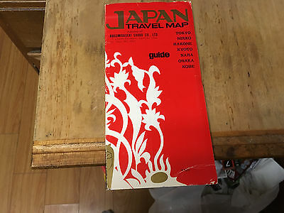 Japan Travel Map, Shobo Co. Folds out 1:1,200,000