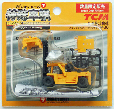 Top Loading Container Lift Yellow - Fujimoto 1/150 N scale
