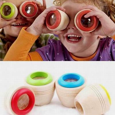 Gracious Children Wooden Educational Magic Kaleidoscope Baby Kid Learning Puzzle