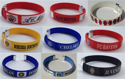 65mm football soccer bangle wristband wristlet bracelet torque Arsenal Madrid