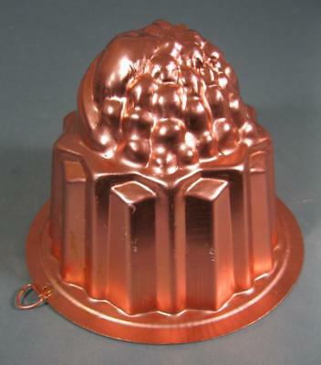 Vintage/retro pink anodised jelly/pate mold/mould -kitchenalia
