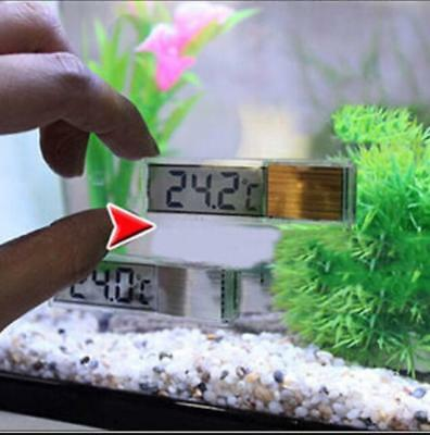 LCD 3D Crystal Digital Electronic Aquarium Thermometer Fish Tank Temp Meter