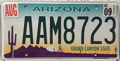 FREE UK POSTAGE Arizona Grand Canyon State USA License Number Plate AAM 8723