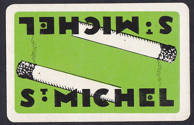 S.Michel Cigarette,Vintage Single Playing Card