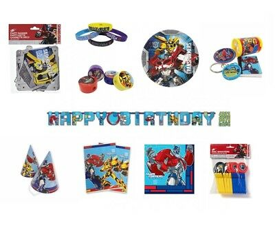TRANSFORMERS Birthday Party Range - Tableware Balloons & Decorations (Prime)