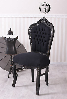 Dining Room Chair Black Chair Baroque Upholstered Chair Castle Furniture