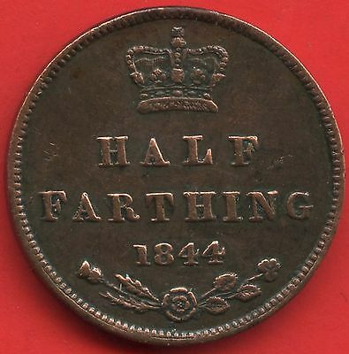 1844 Great Britain Half Farthing Coin