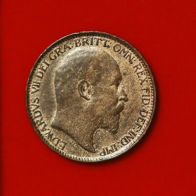 Farthing Edward VII 1904 EF Lustre Not Black Toned