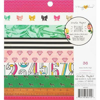 """Crate Paper Maggie Holmes Shine 6""""x6"""" Paper Pad 36 Sheets 680315"""