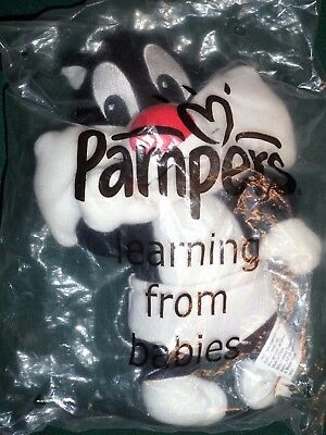 """Pampers Looney Tunes Sylvester The Cat Learning From Babies 8"""" Soft Toy New"""