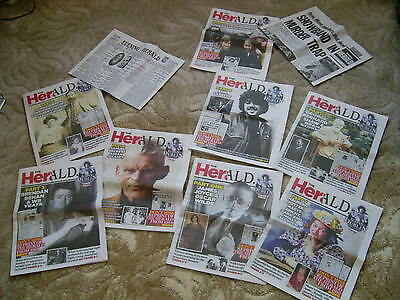 Evening Herald-8 PARTs SET-icons of dublin-BEHAN-Becket-ART-REPRINT-IRELAND-