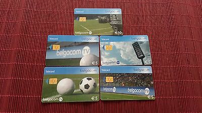 Set Football 5 Cards Belgium