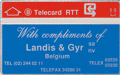 Landis & Gyr First card Belgium 810 E (Mint,neu) Catalogue 280 Euro Rare