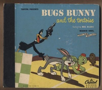 Bugs Bunny and the Tortoise 1948 Capitol 45 rpm Record Book MEL BLANC (c#16016)
