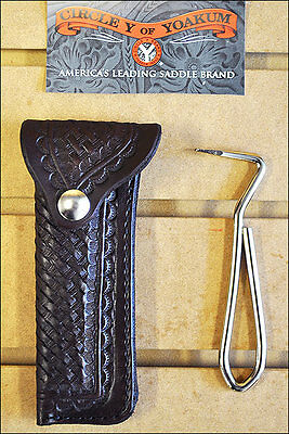 Leather Hoof Pick Holderbasket Weave By Circle Y