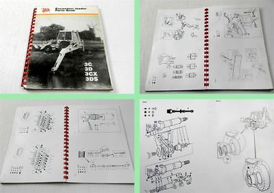 JCB 3C 3D 3CX 3DS Excavator Loader Parts List Parts book 1981