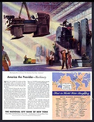 1947 Francis Criss machine factory art CitiBank vintage print ad