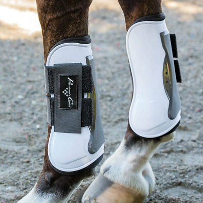 Professional Choice Pro Performance Open Front Show Jump Horse Tendon Boot White