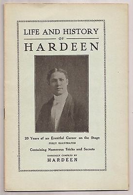 THE LIFE AND HISTORY OF HARDEEN Pitch Book circa 1920 Theo - Brother of Houdini