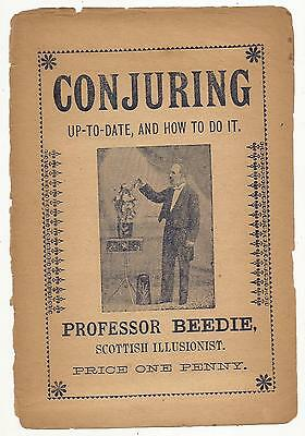 CONJURING Up to Date & How to Do It by Professor Beedie Scottish Illusionist