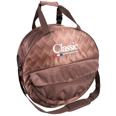 Classic Equine Horse Roper Mesh Padded Compartment Deluxe Rope Bag Chocolate