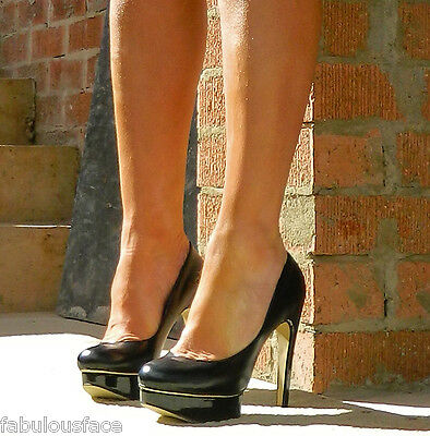 Stylemology THURMAN Sexy Unabashed Glamour Black Heels Size 8.5