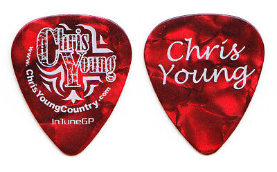 Chris Young Signature Red Pearl Guitar Pick - 2011 Tour