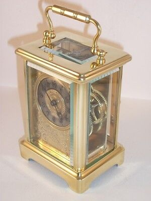 Antique French carriage clock C1895. With key. Restored & serviced in Sept 2017.