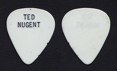 Vintage Ted Nugent Concert-Used White Guitar Pick - 1970s Tours